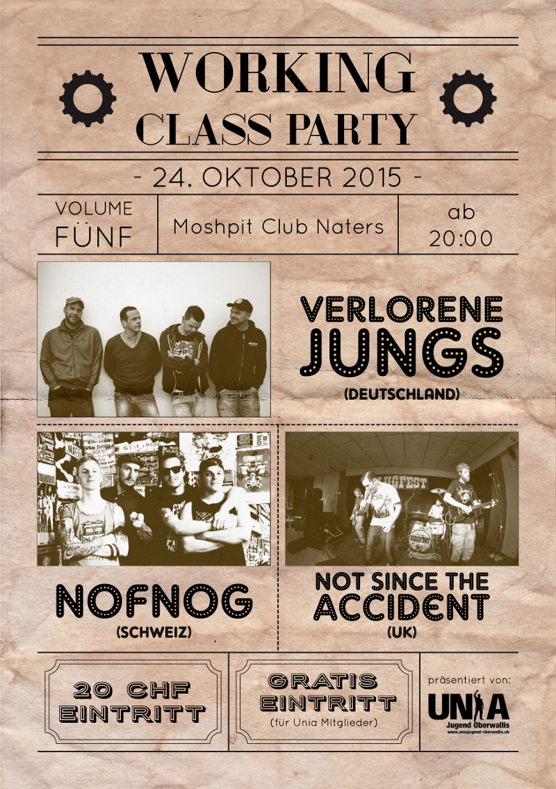 Workling Class Party Vol. 5 Flyer